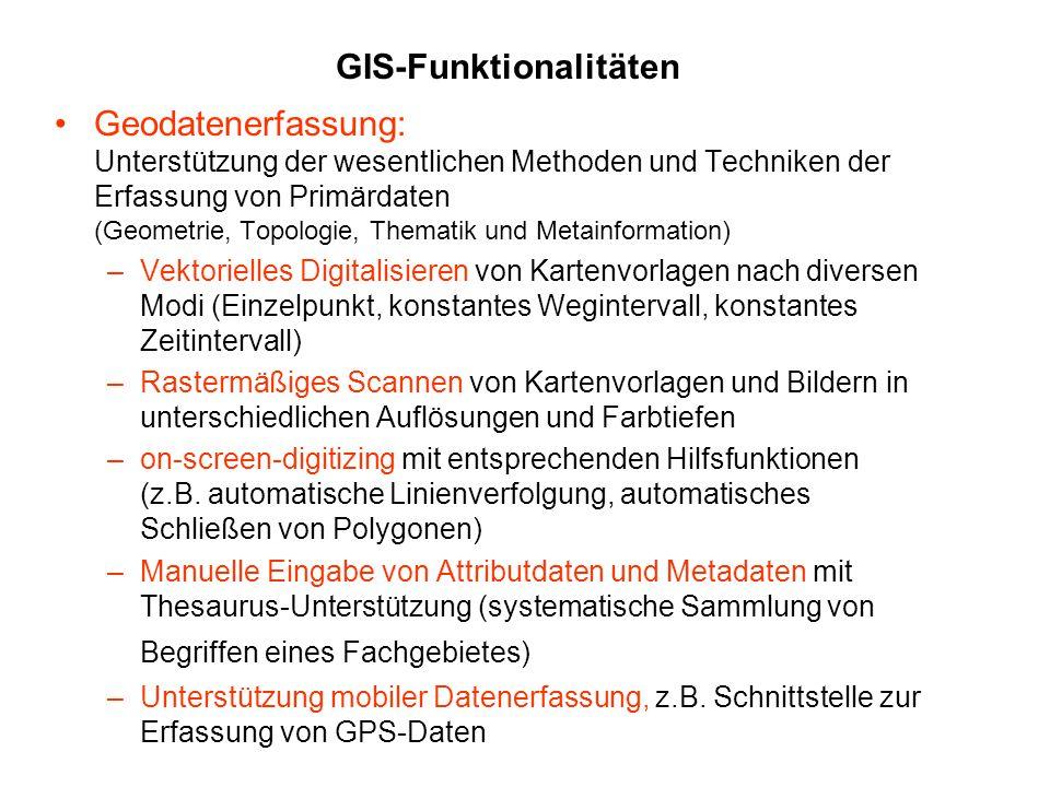 GIS-Funktionalitäten