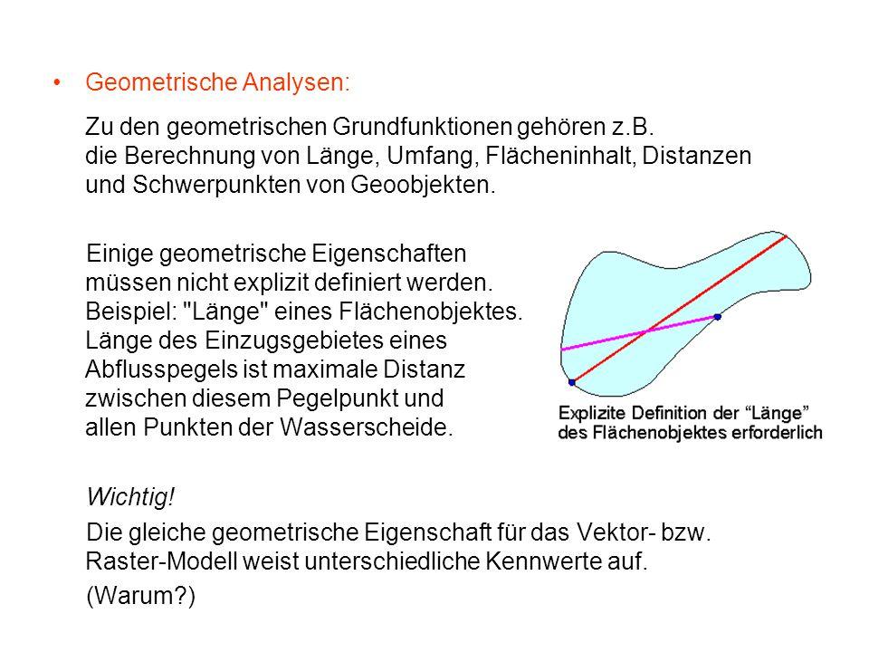 Geometrische Analysen: