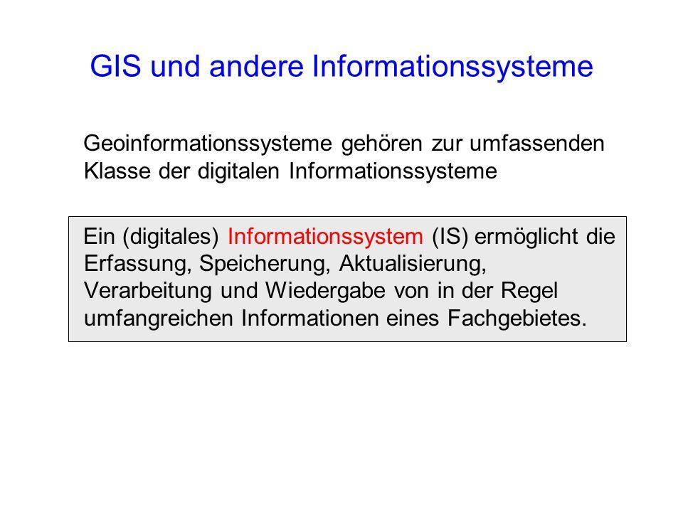 GIS und andere Informationssysteme
