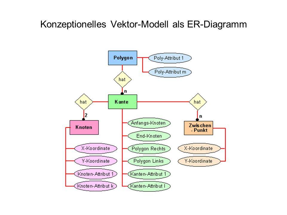 Konzeptionelles Vektor-Modell als ER-Diagramm