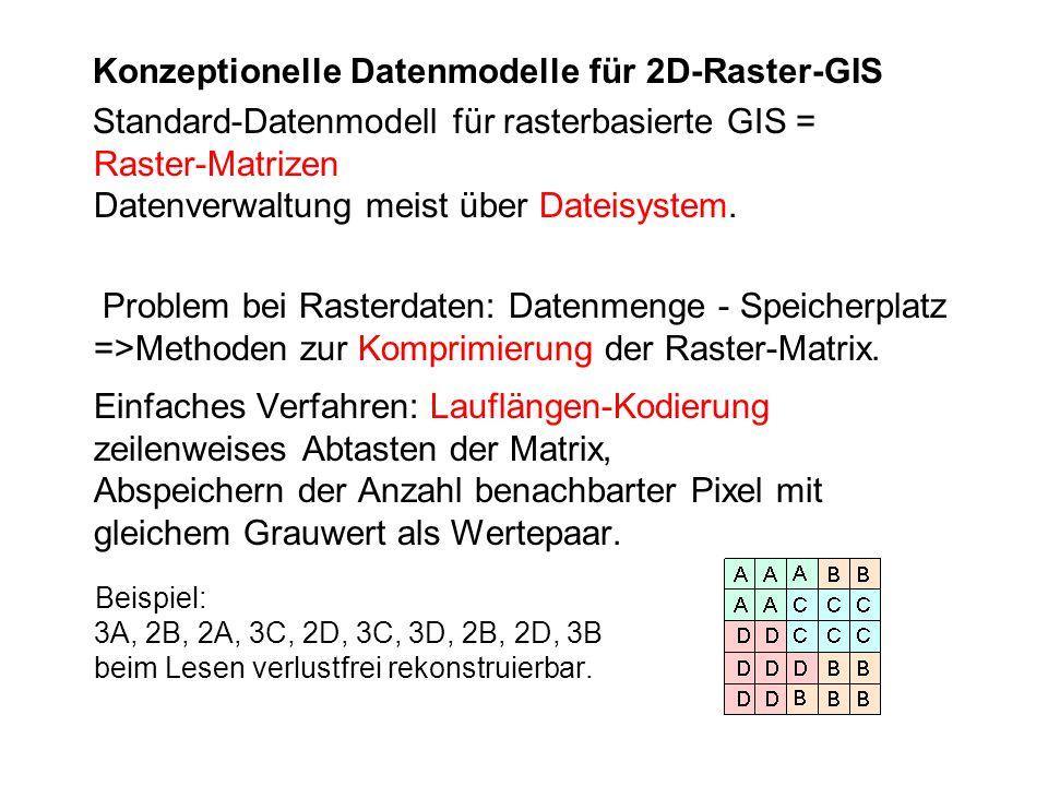 Konzeptionelle Datenmodelle für 2D-Raster-GIS