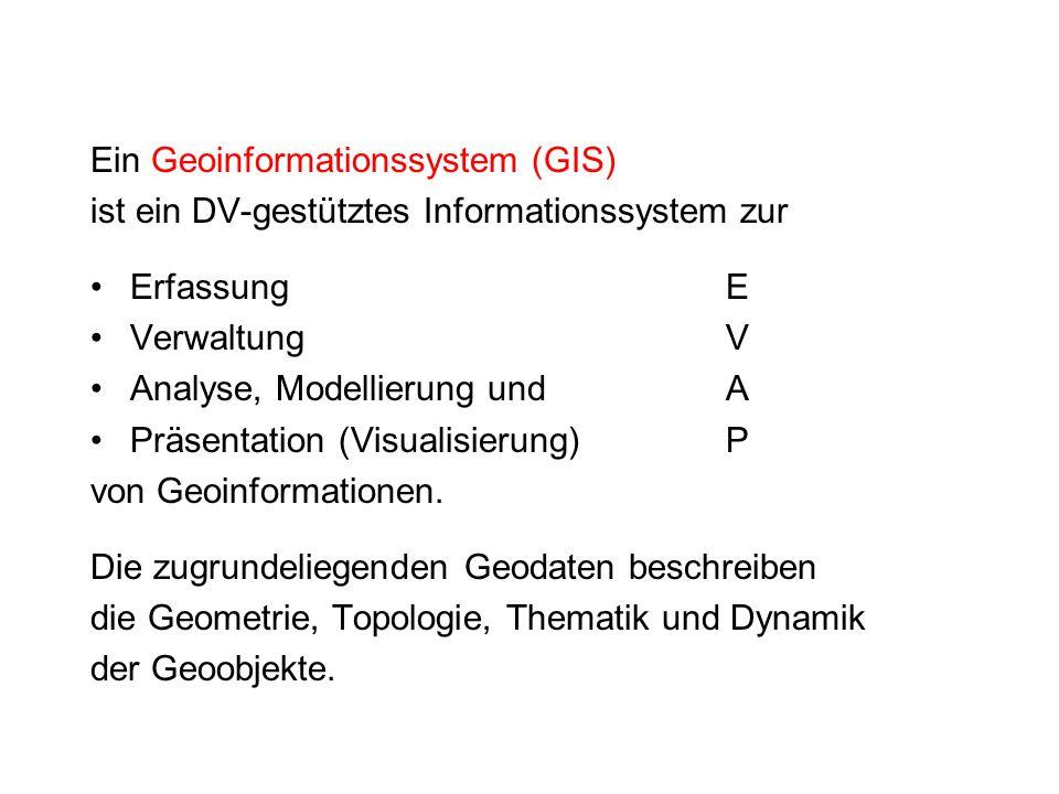 Ein Geoinformationssystem (GIS)