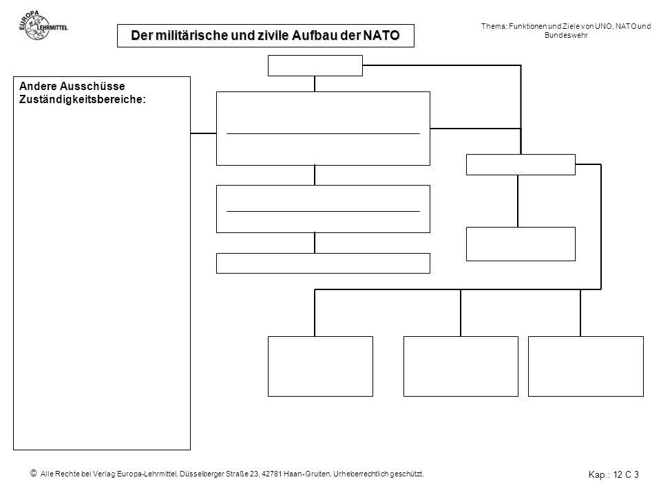 Der militärische und zivile Aufbau der NATO