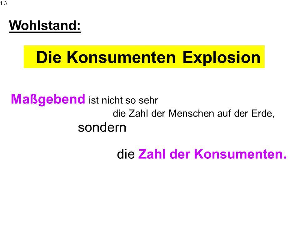 Die Konsumenten Explosion