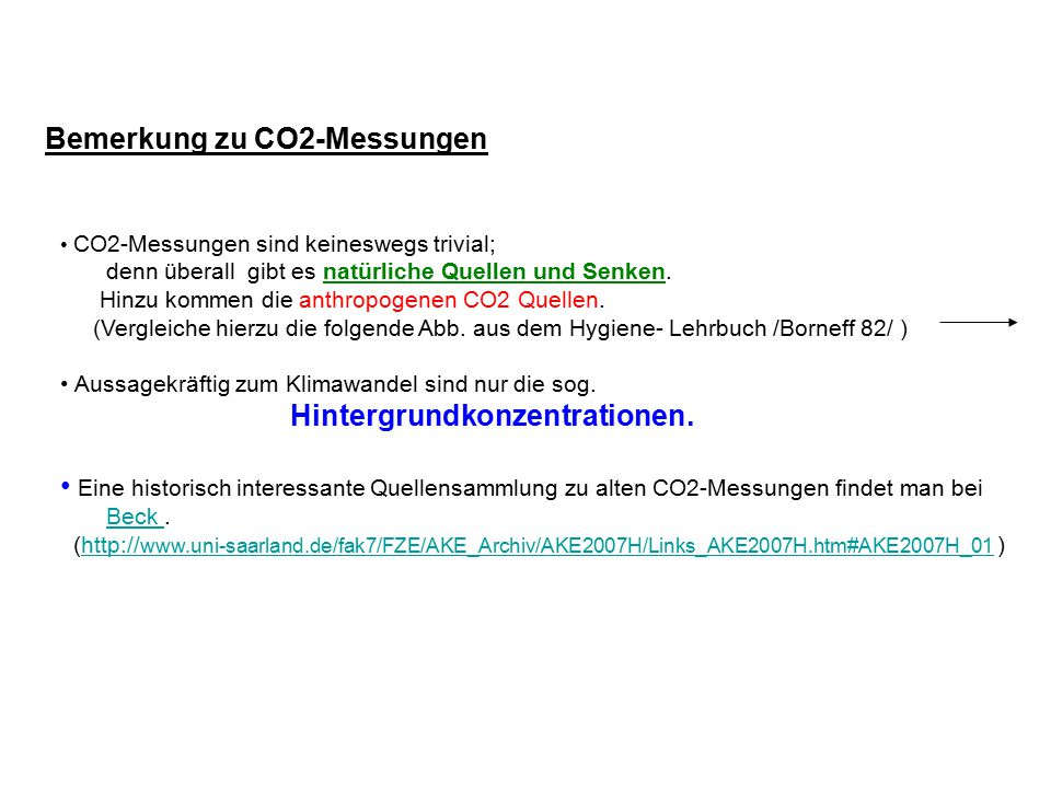 Bemerkung zu CO2-Messungen