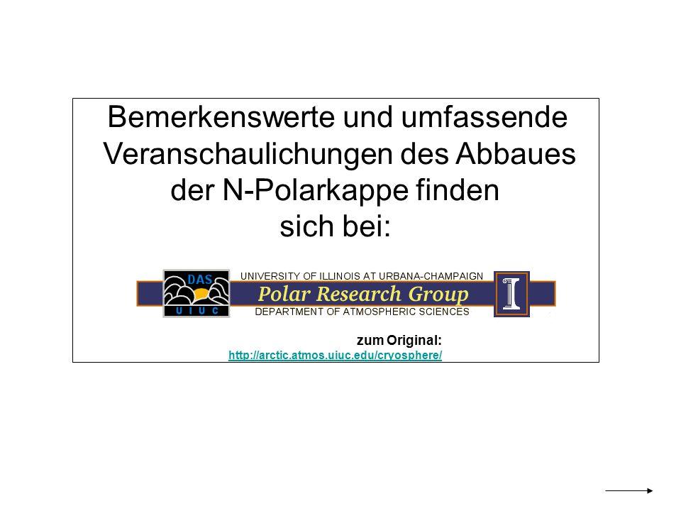 Veranschaulichungen des Abbaues der N-Polarkappe finden sich bei: