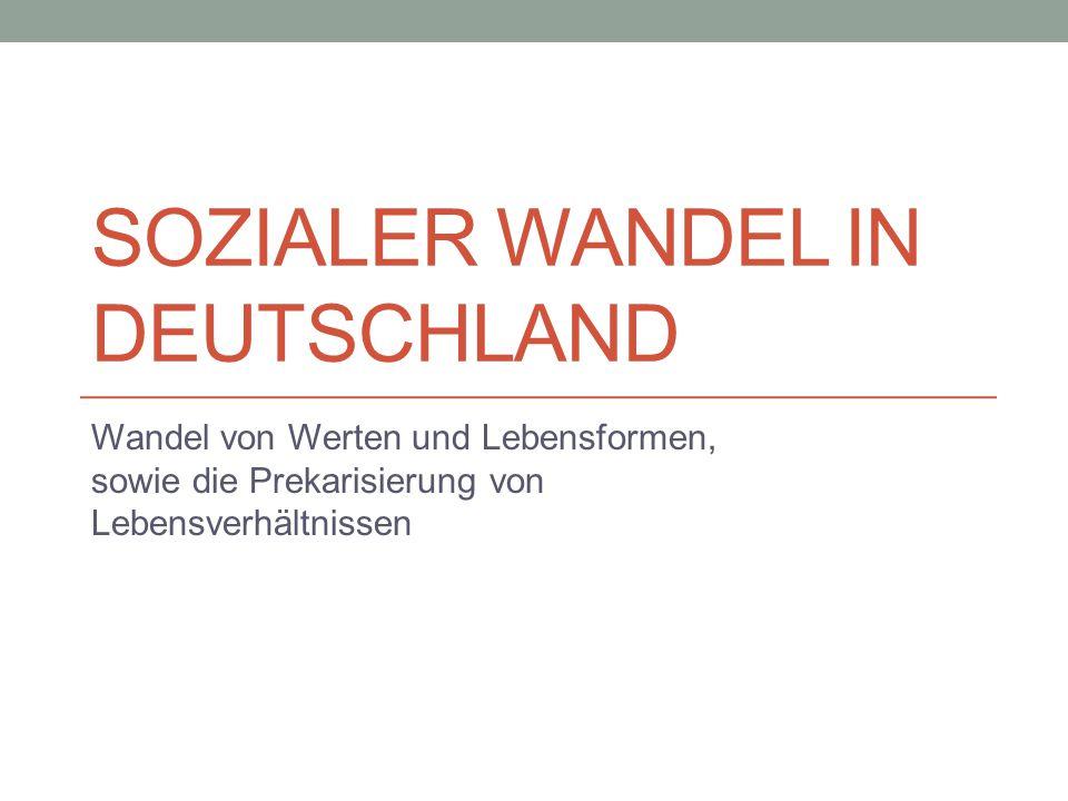Sozialer Wandel in Deutschland