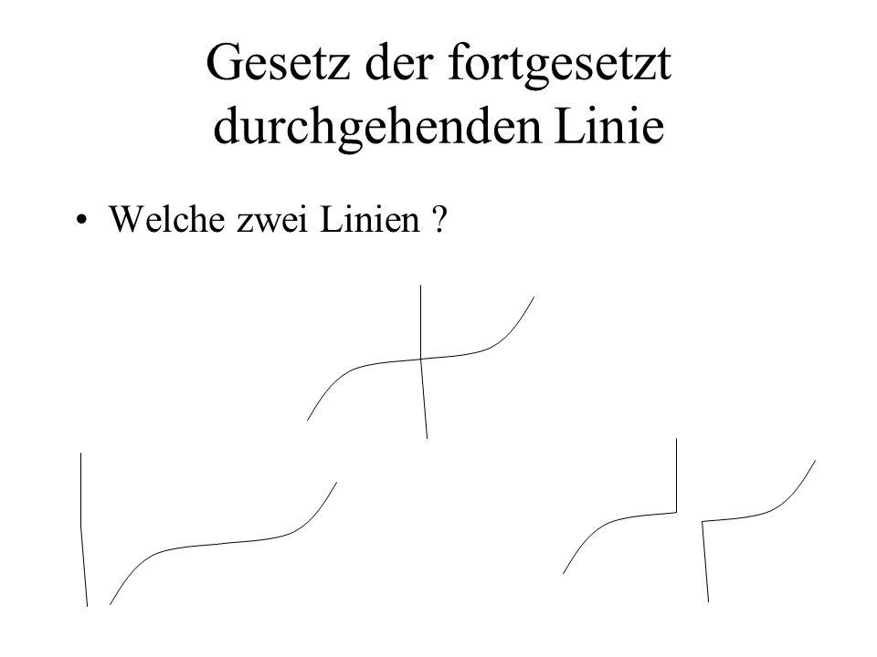 Gesetz der fortgesetzt durchgehenden Linie