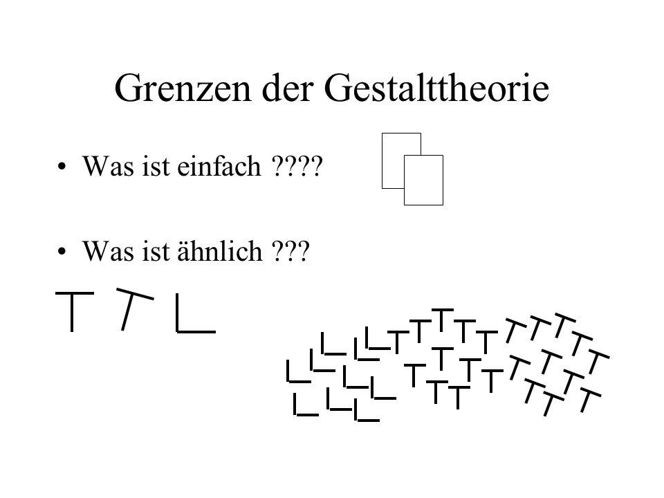 Grenzen der Gestalttheorie