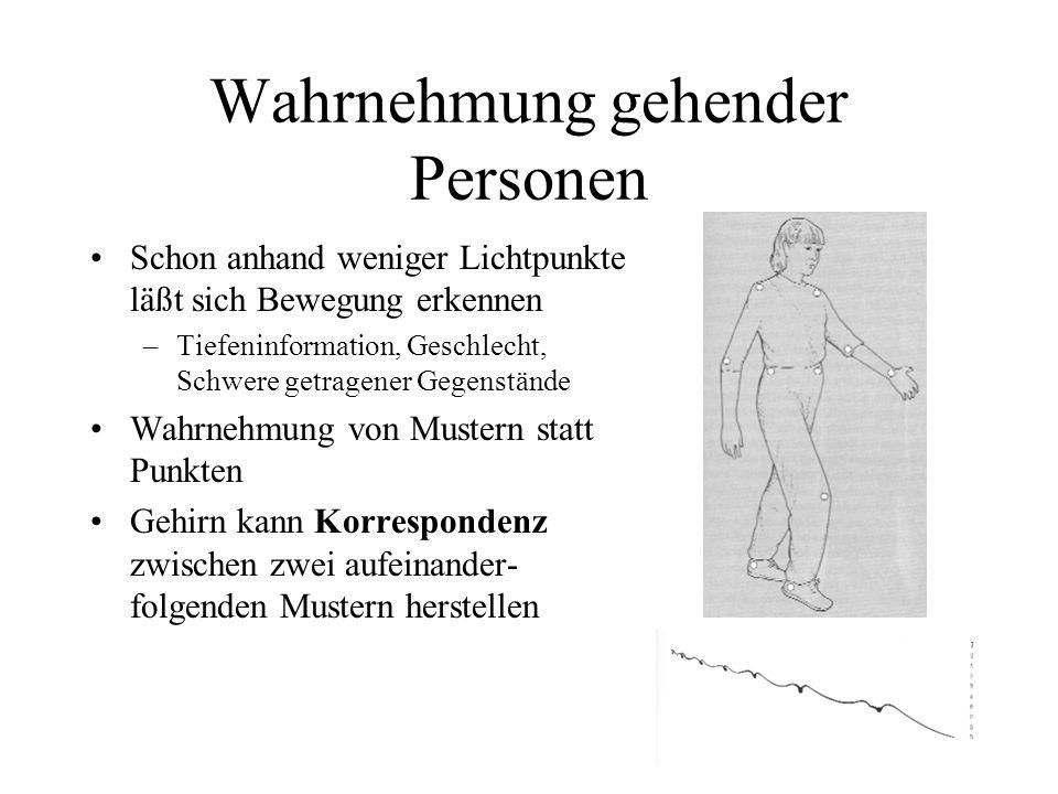 Wahrnehmung gehender Personen