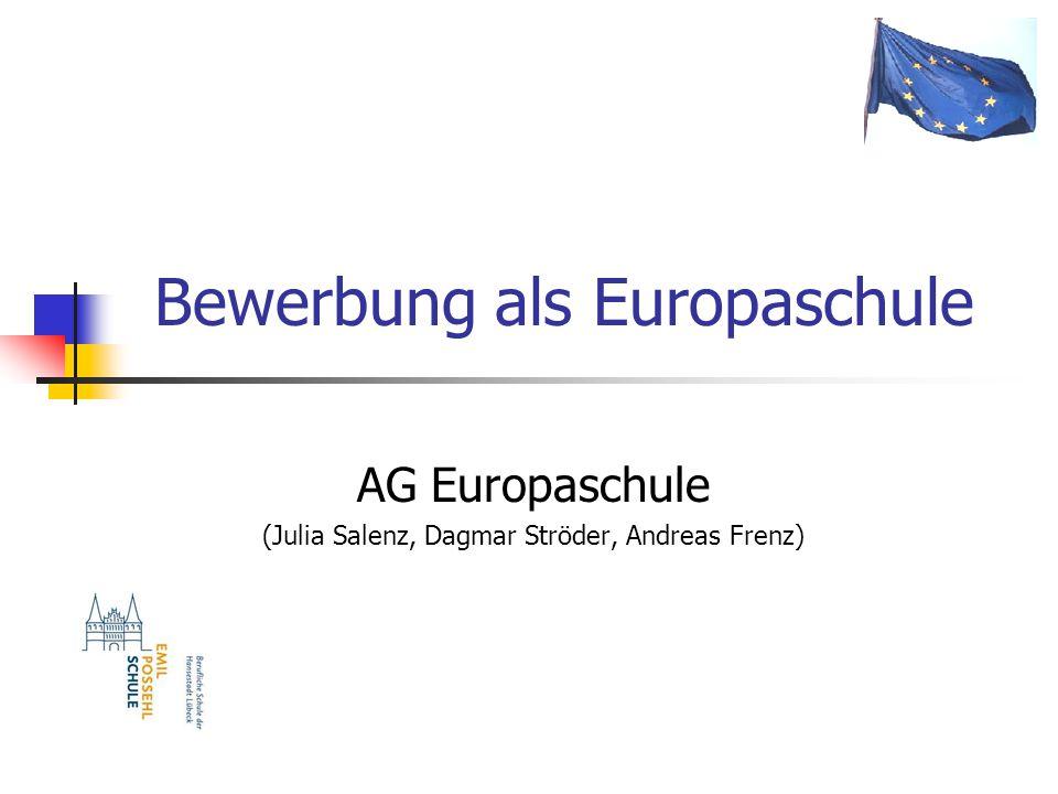 Bewerbung als Europaschule