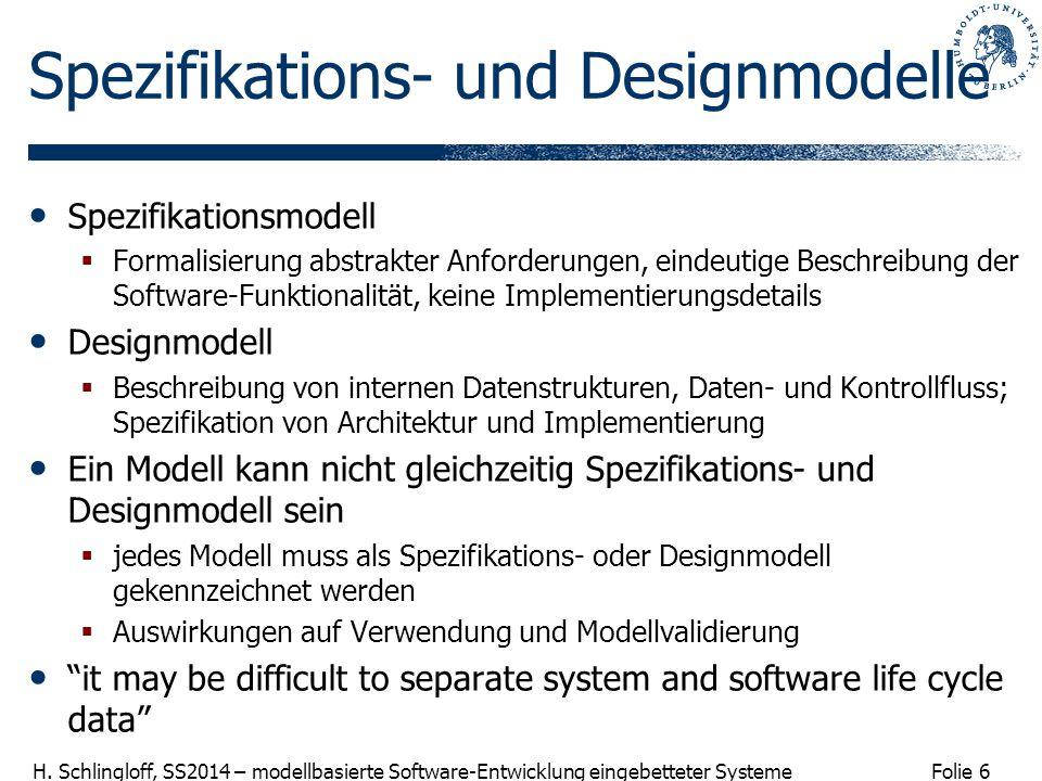Spezifikations- und Designmodelle