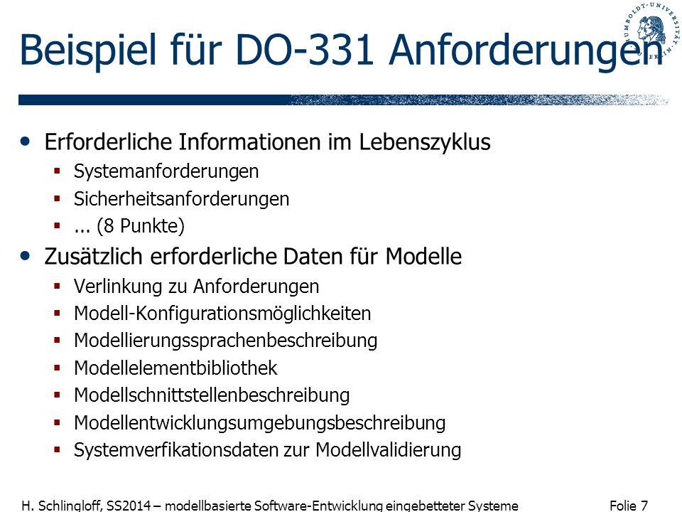 Beispiel für DO-331 Anforderungen