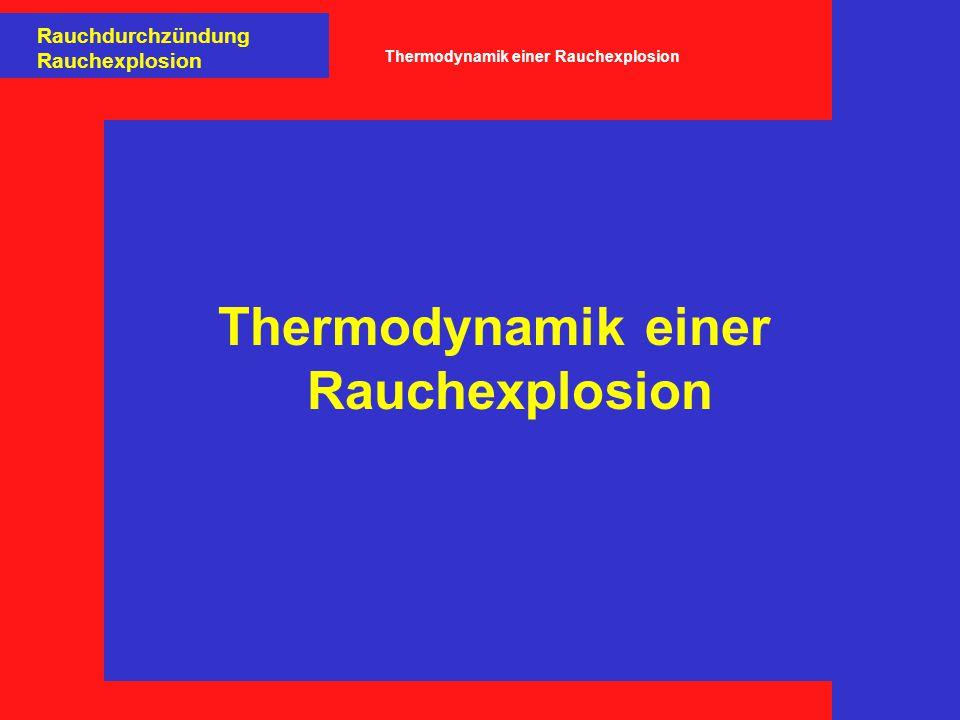 Thermodynamik einer Rauchexplosion