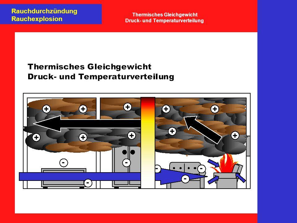Thermisches Gleichgewicht Druck- und Temperaturverteilung
