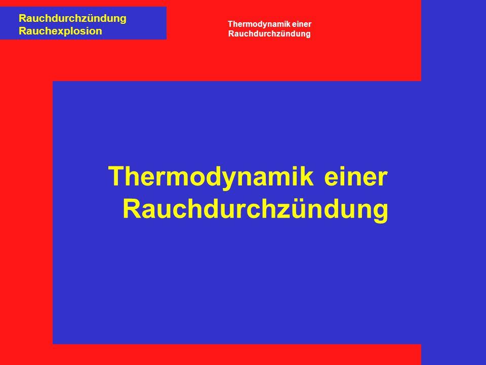 Thermodynamik einer Rauchdurchzündung