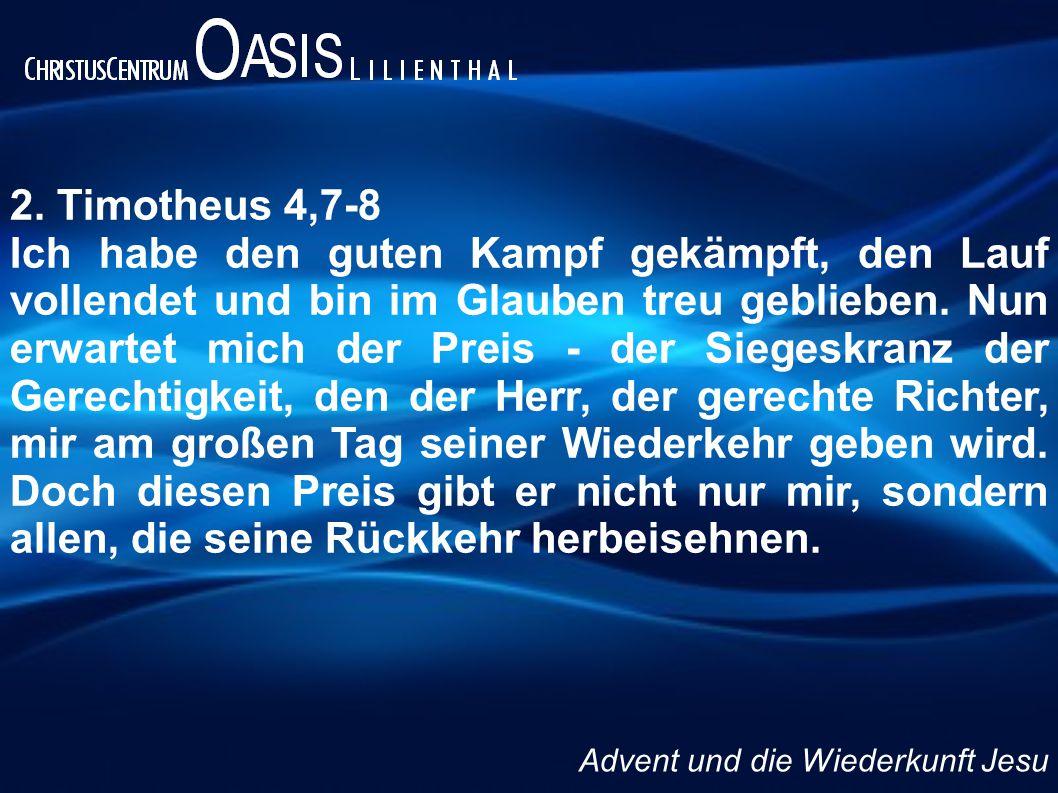 2. Timotheus 4,7-8
