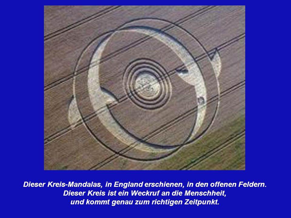 Dieser Kreis-Mandalas, in England erschienen, in den offenen Feldern.