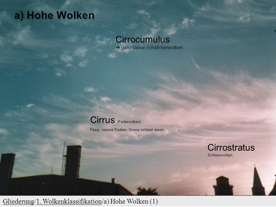 Hohe Wolken Cirrocumulus  ganz kleine Schäfchenwolken
