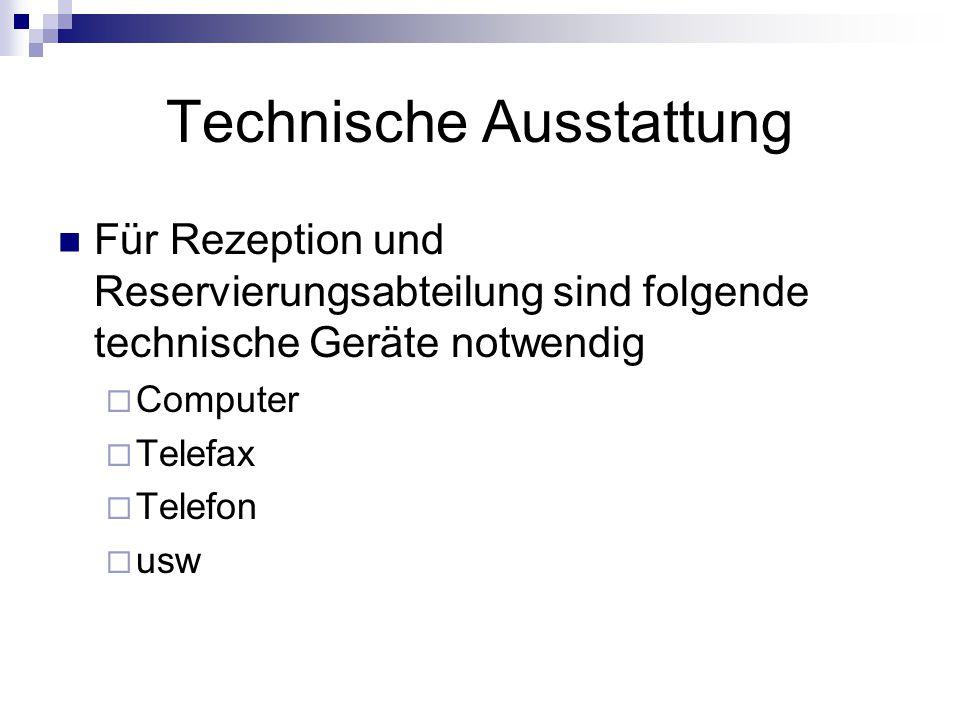 Technische Ausstattung