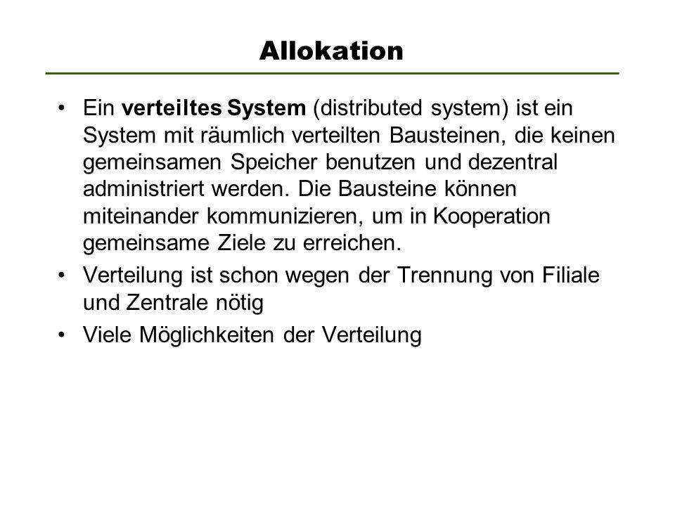 Allokation