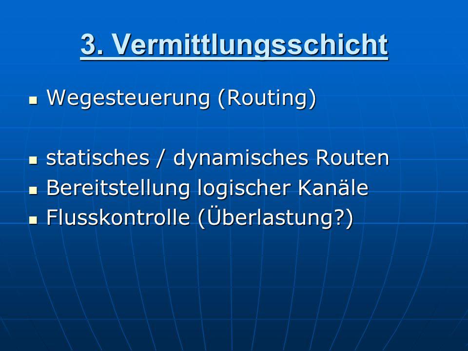 3. Vermittlungsschicht Wegesteuerung (Routing)