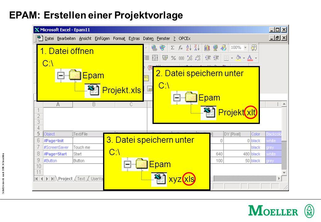 EPAM: Erstellen einer Projektvorlage