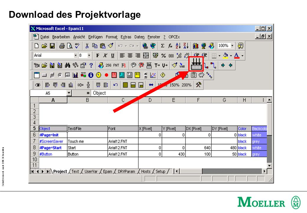 Download des Projektvorlage