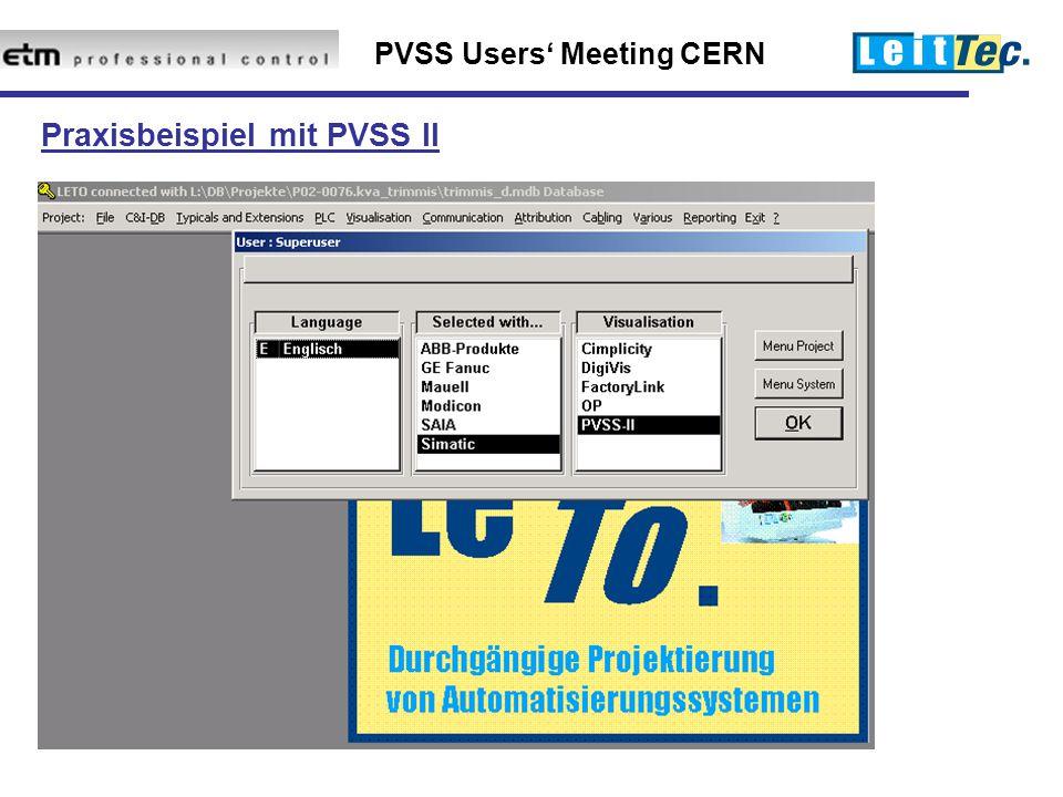 Praxisbeispiel mit PVSS II