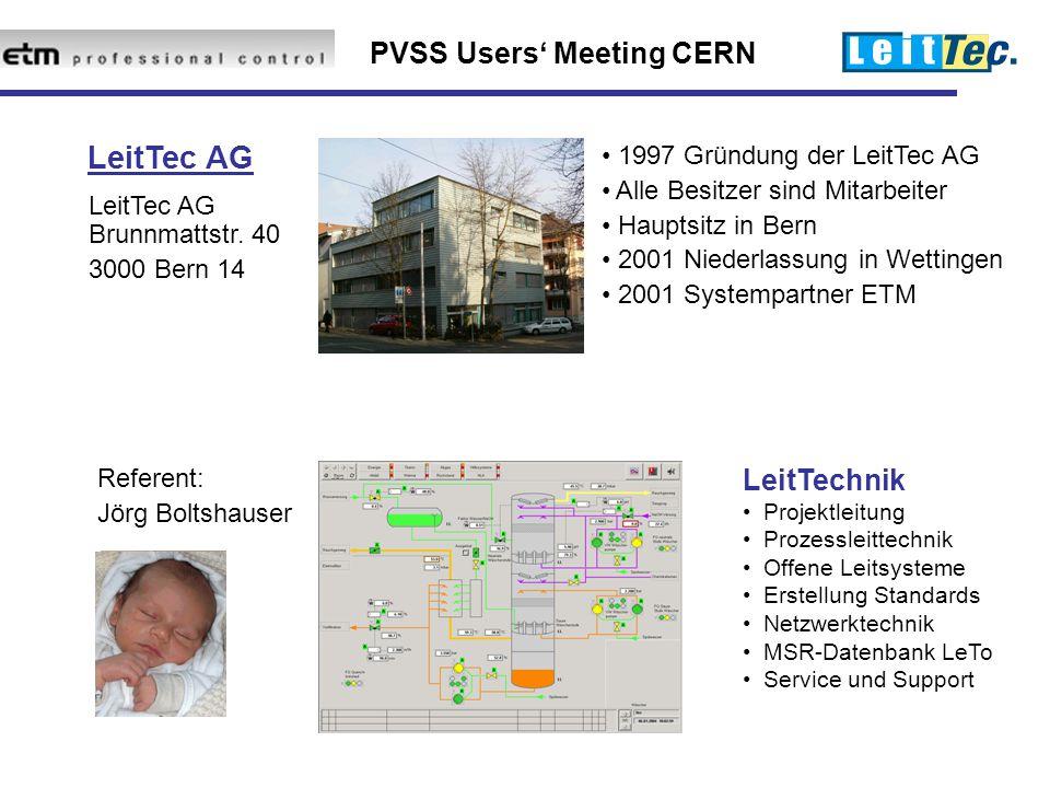 LeitTec AG LeitTechnik 1997 Gründung der LeitTec AG
