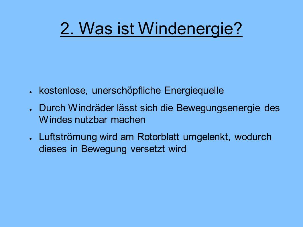 2. Was ist Windenergie kostenlose, unerschöpfliche Energiequelle