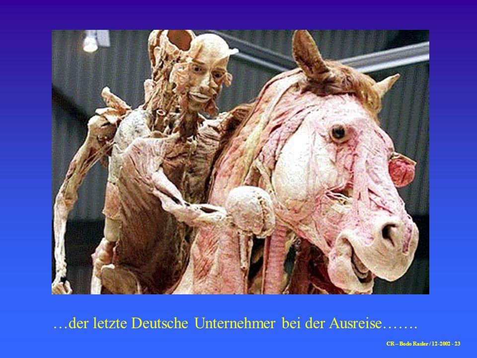 …der letzte Deutsche Unternehmer bei der Ausreise…….