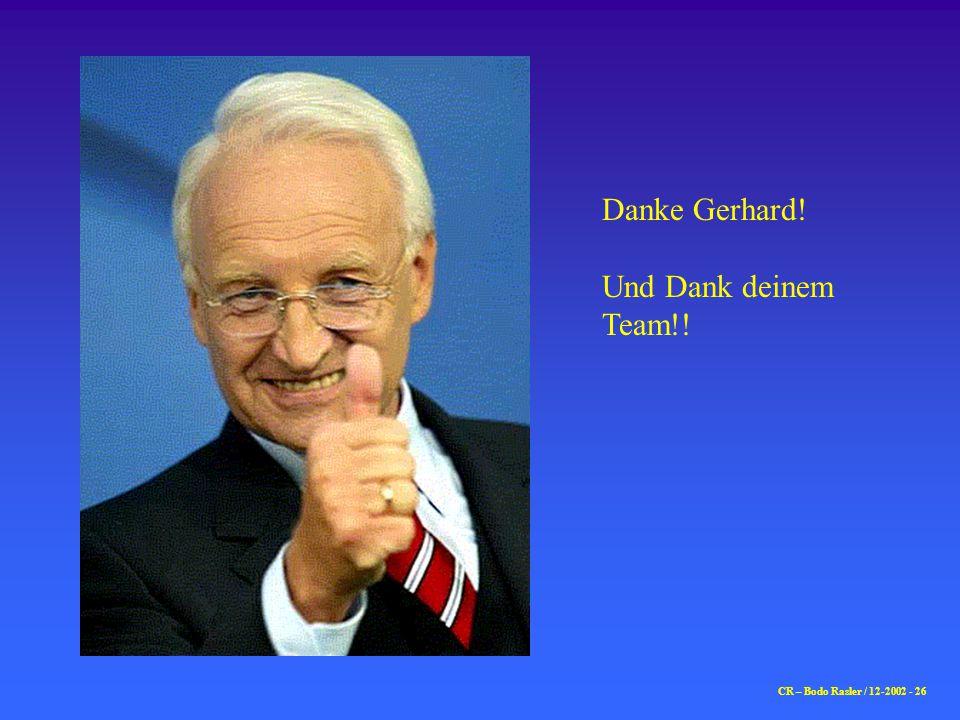 Danke Gerhard! Und Dank deinem Team!! CR – Bodo Rasler / 12-2002 - 26