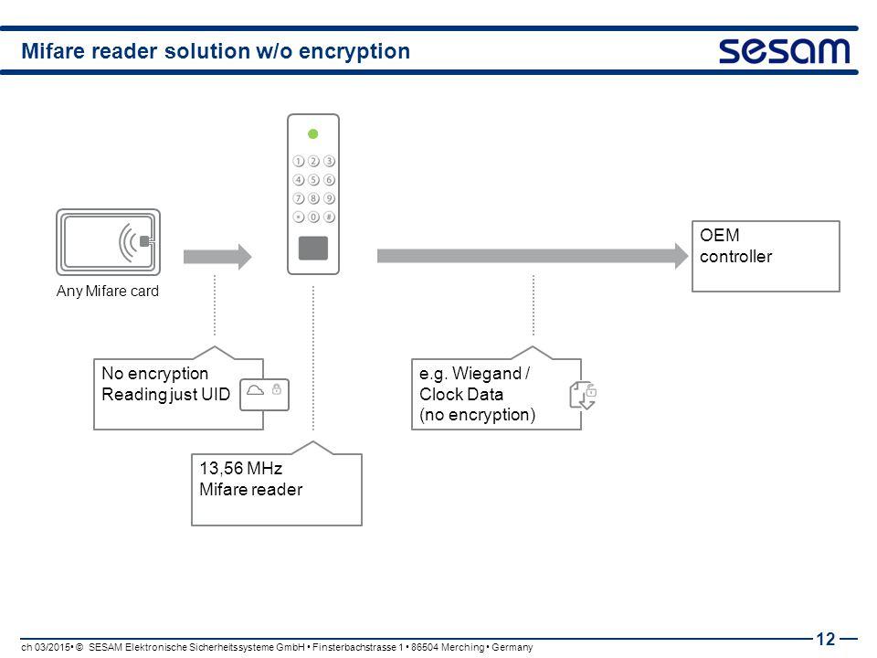 Mifare reader solution w/o encryption