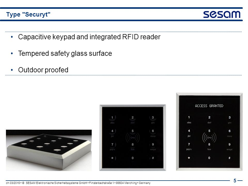 Capacitive keypad and integrated RFID reader