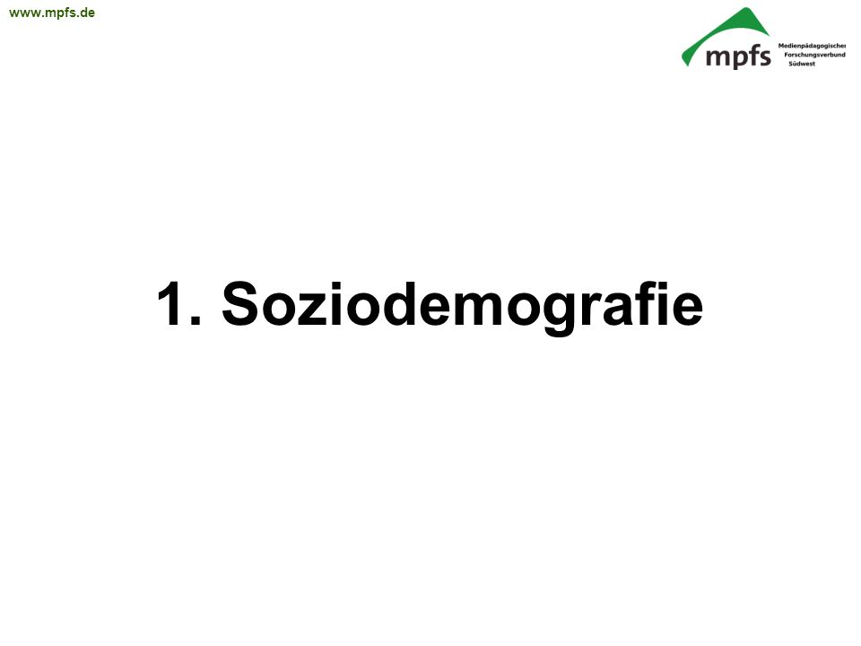 1. Soziodemografie