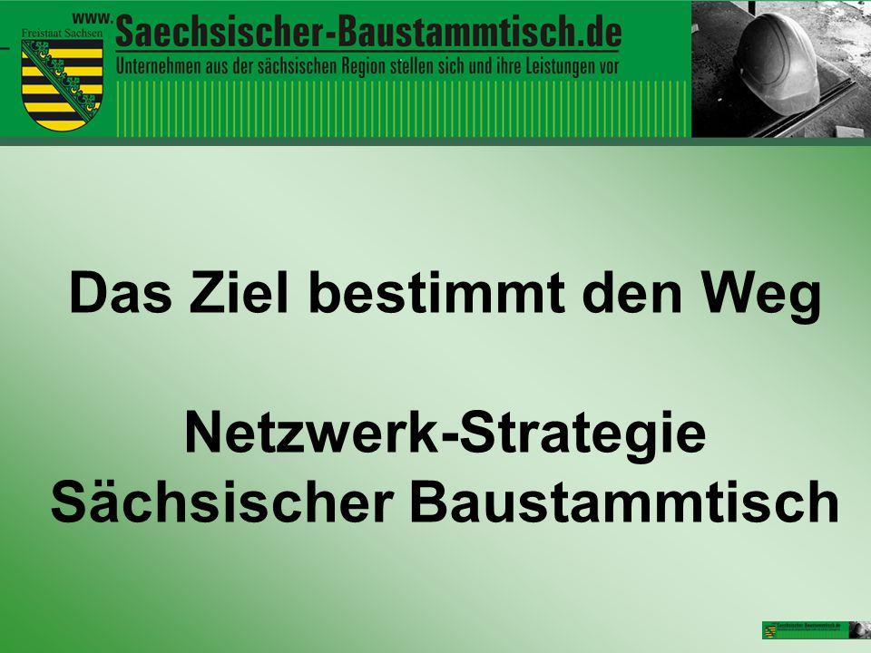 Das Ziel bestimmt den Weg Netzwerk-Strategie Sächsischer Baustammtisch