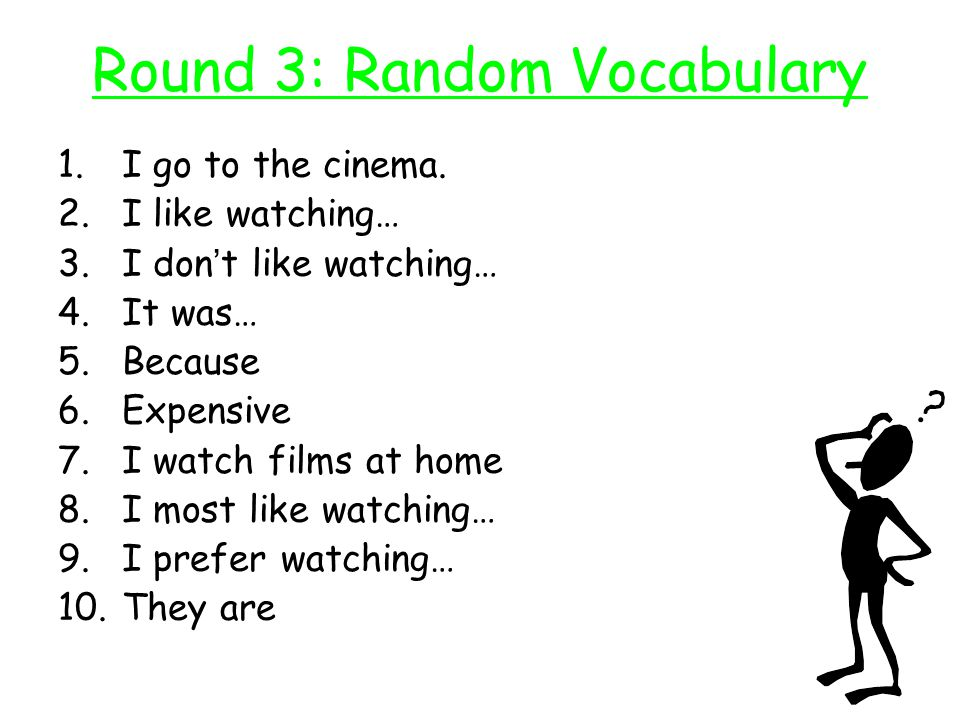 Round 3: Random Vocabulary