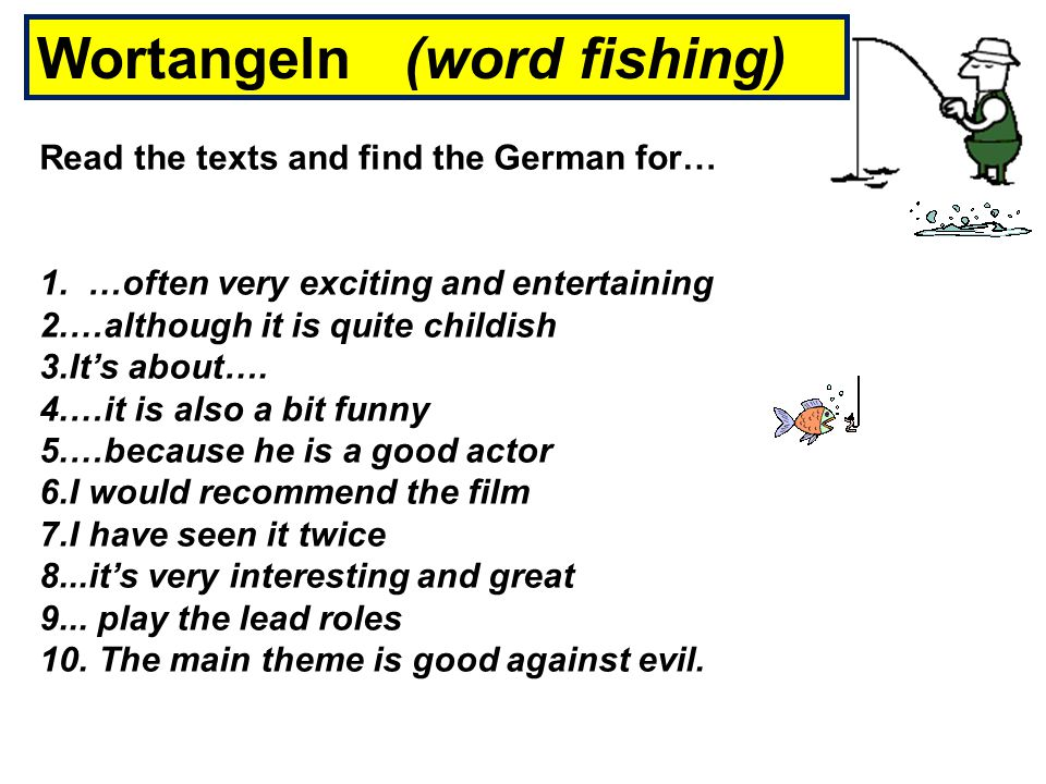 Wortangeln (word fishing)