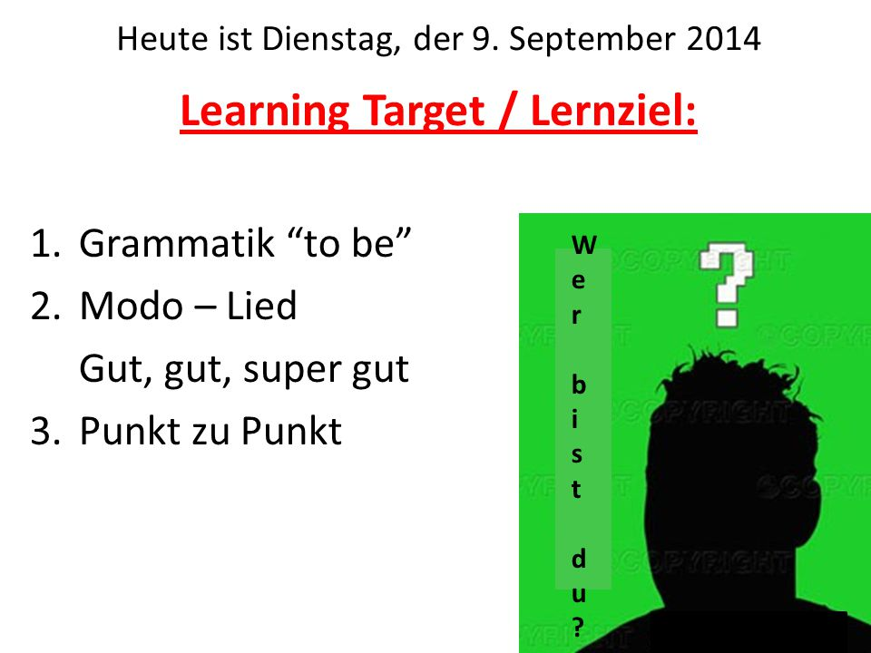 Learning Target / Lernziel: