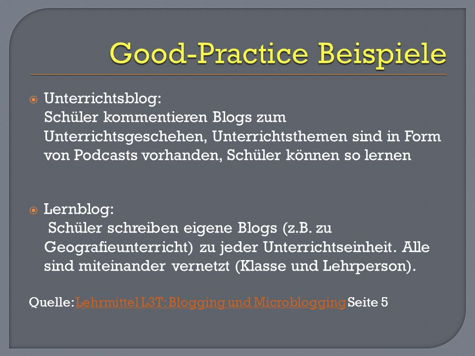 Good-Practice Beispiele