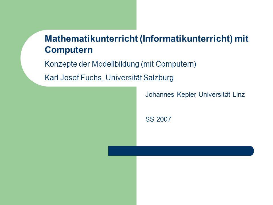 Mathematikunterricht (Informatikunterricht) mit Computern