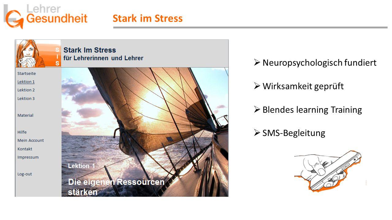 Stark im Stress Neuropsychologisch fundiert Wirksamkeit geprüft