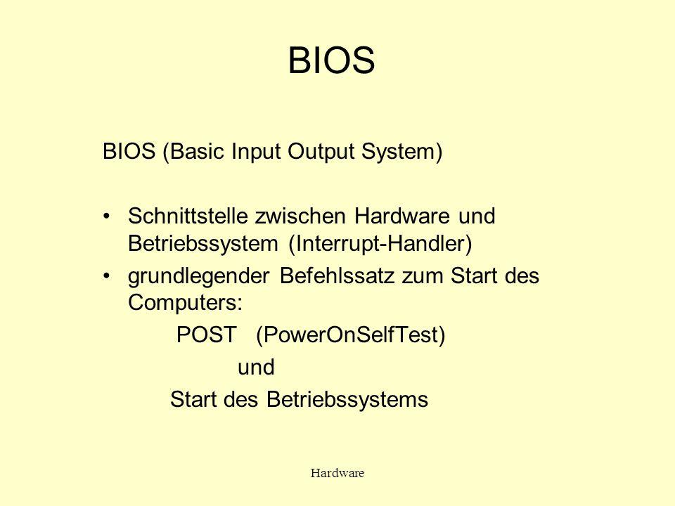 BIOS BIOS (Basic Input Output System)