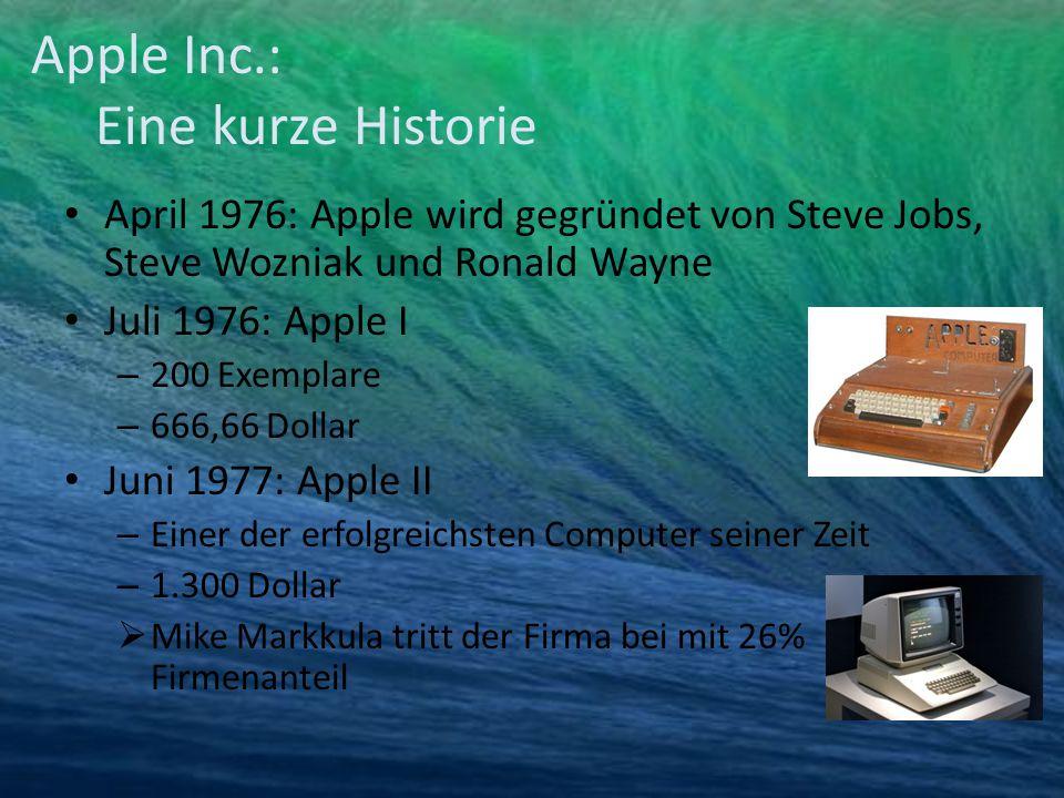Apple Inc.: Eine kurze Historie