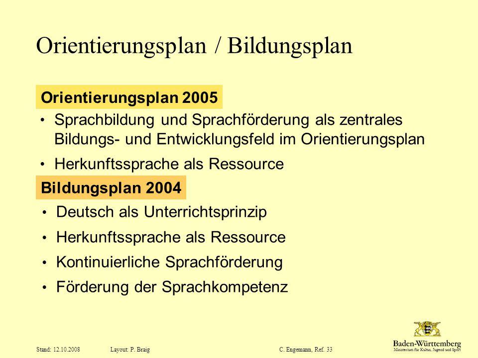 Orientierungsplan / Bildungsplan