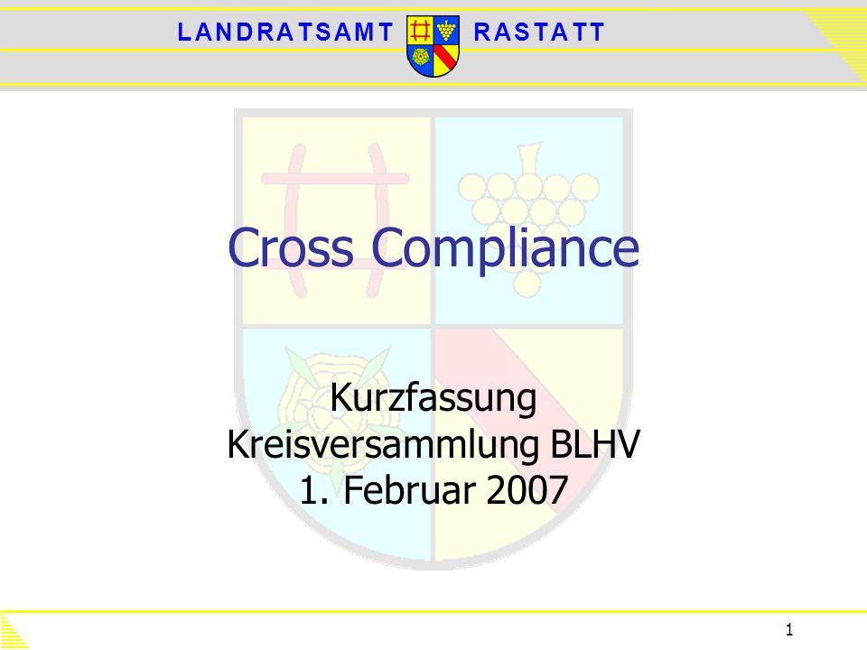 Kurzfassung Kreisversammlung BLHV 1. Februar 2007