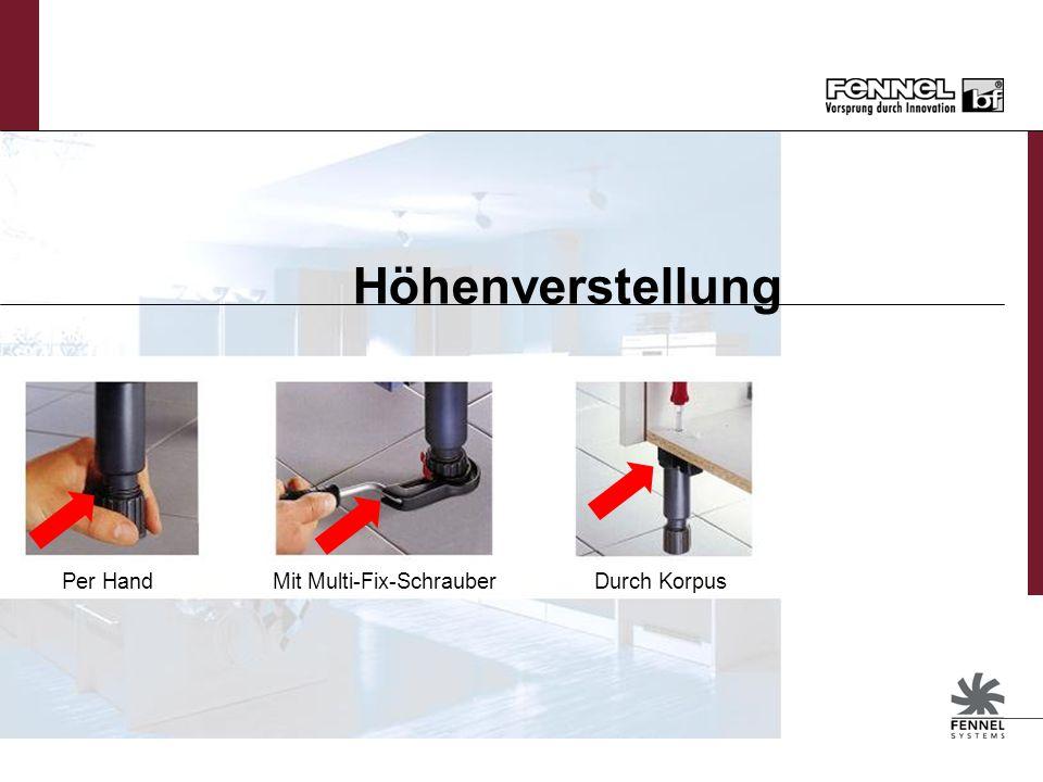 Mit Multi-Fix-Schrauber