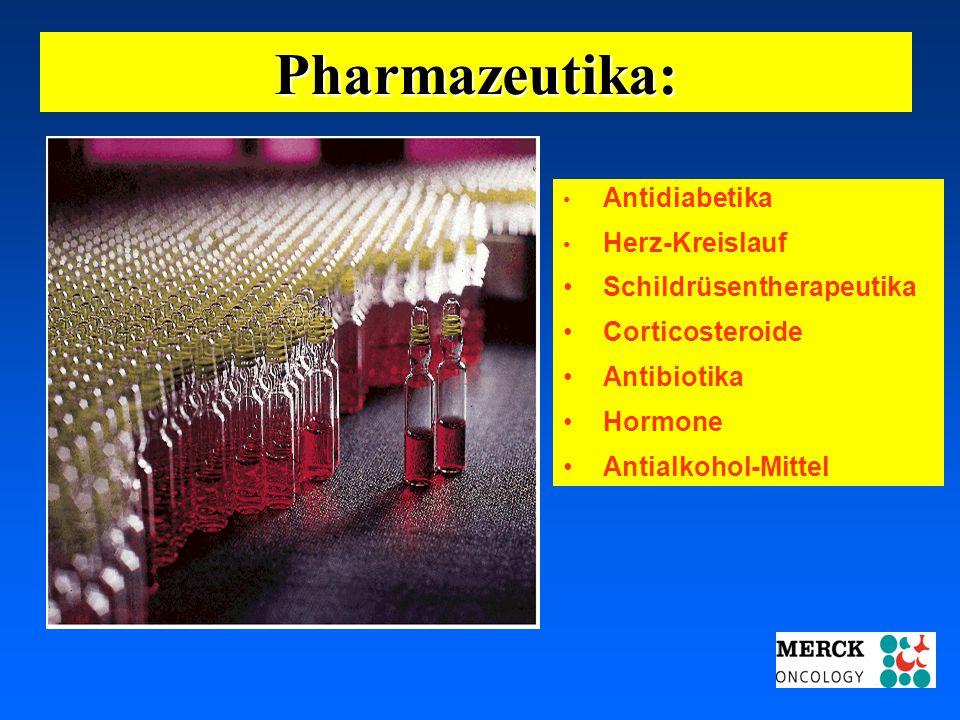 Pharmazeutika: Schildrüsentherapeutika Corticosteroide Antibiotika