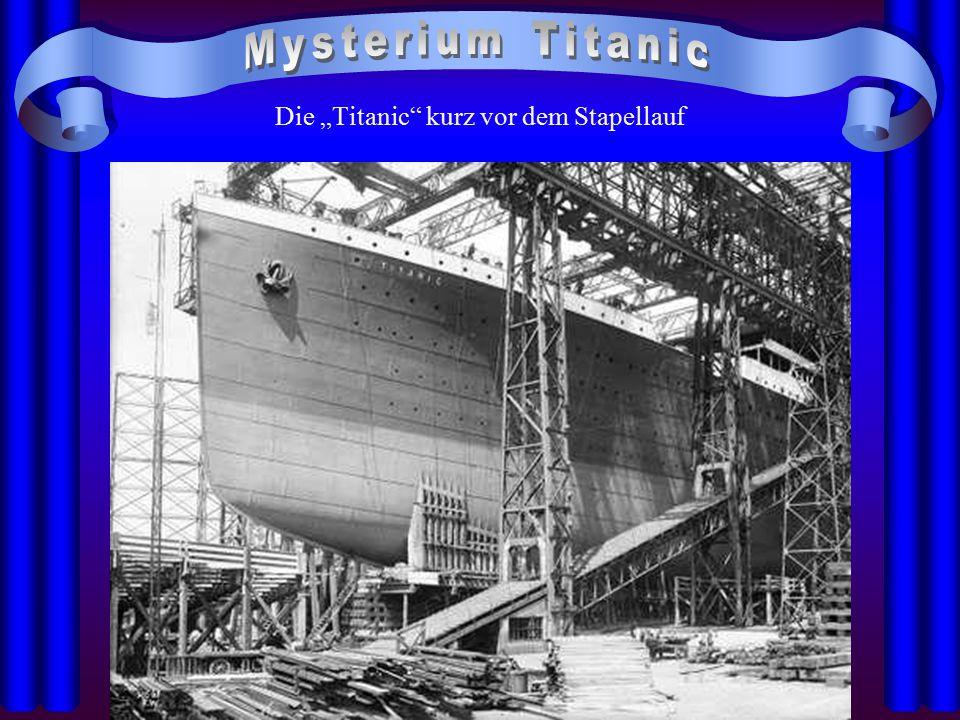 """Die """"Titanic kurz vor dem Stapellauf"""